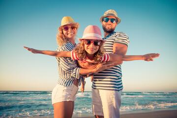 Ferie i august i mobil home i campinglandsby i Bibione med svømmebassin