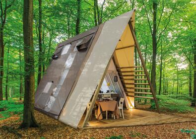 Overnatning i glamping-telt i Toscana