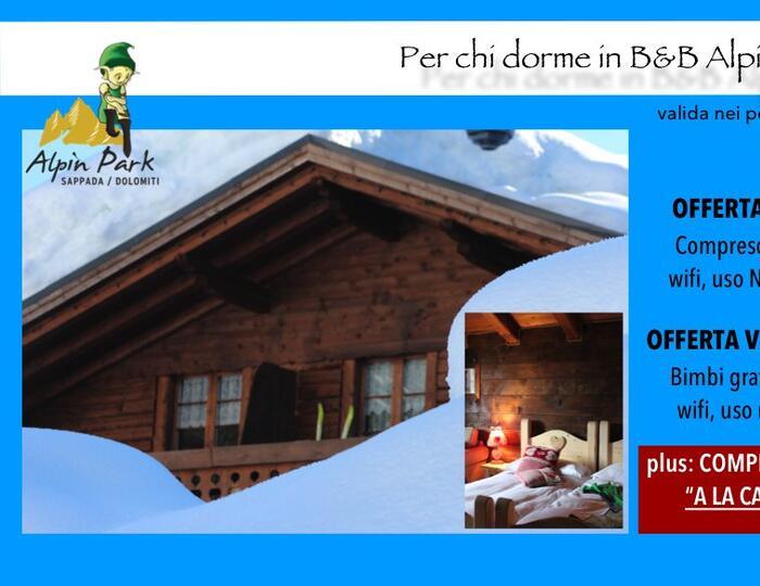 BeB Alpinhaus, camera e colazione - Alpinpark Sappada Dolomiti Camping Village