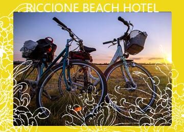 Hotel Riccione with internal parking, free bike rental