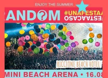 Offerta Random Party Rimini Beach Arena - 16 Agosto 2019 | Riccione Beach Hotel