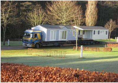 Sale of mobile homes with transport included transport