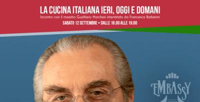 Il Maestro Gualtiero Marchesi ospite all'Embassy