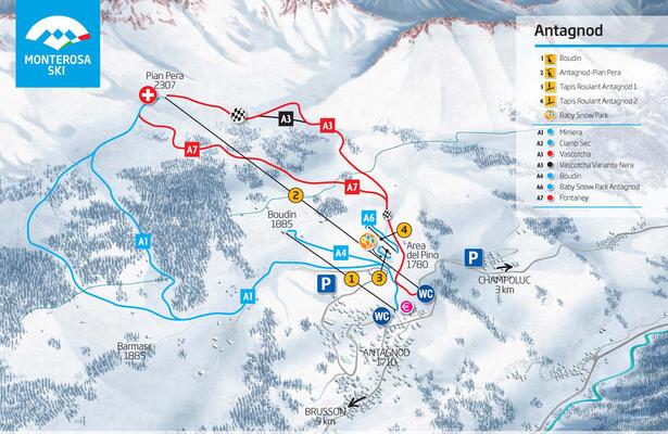 Antagnod: le seggiovie del sole del Monterosa Ski