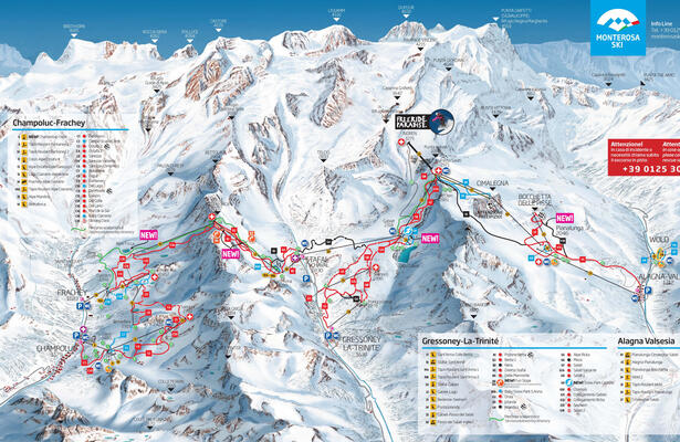 Champoluc: 3 skiing valleys at the feet of Monte Rosa glacier