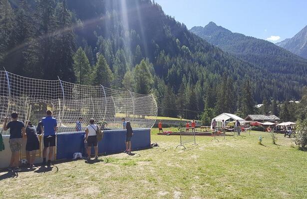 Green area at Pian Villy of Champoluc, Aosta Valley