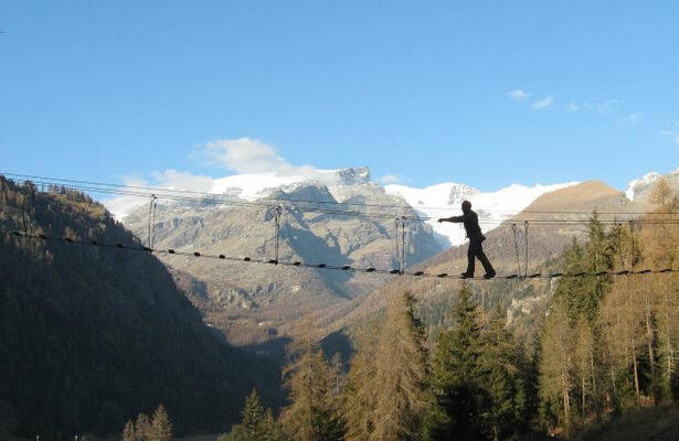 Champoluc adventure park: skill, dexterity, courage and lots of fun