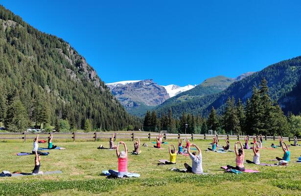 Yoga e salute, meditazione, esercizi e pratiche ai piedi del Monte Rosa