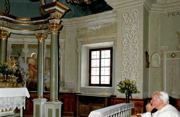 Barmasc sanctuary visited by Pope John Paul II in the summer of 1990