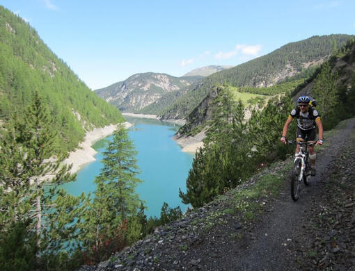 Mountain Bike in Alta Rezia