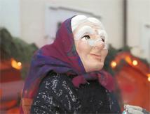 La Befana nel centro storico di Ravenna per l'Epifania 2014