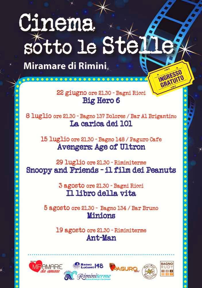 Cinema sotto le Stelle Miramare di Rimini | Promozione Alberghiera ...