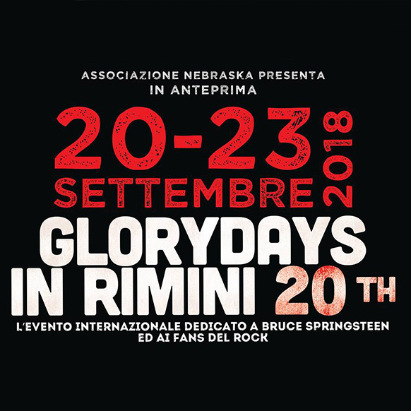 20esima edizione del tributo Bruce Springsteen Glory Days a Rimini