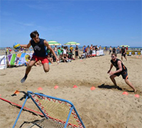 Beach Tchoukball Festival 2017 sulla spiaggia di Viserba di Rimini