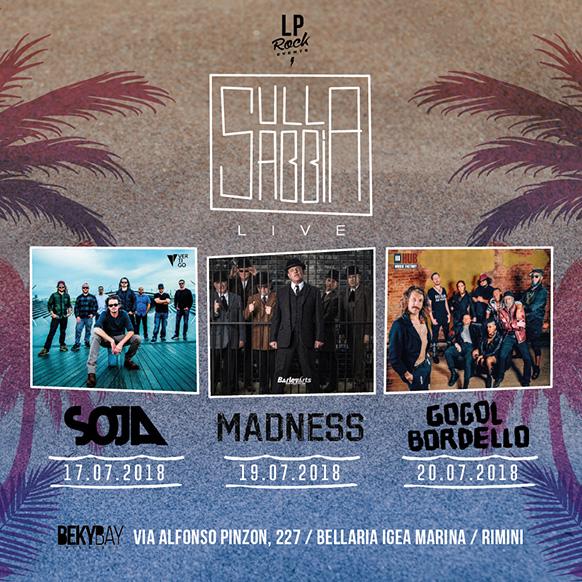 Sulla Sabbia 2018: concerti estivi al Beky Bay di Igea Marina