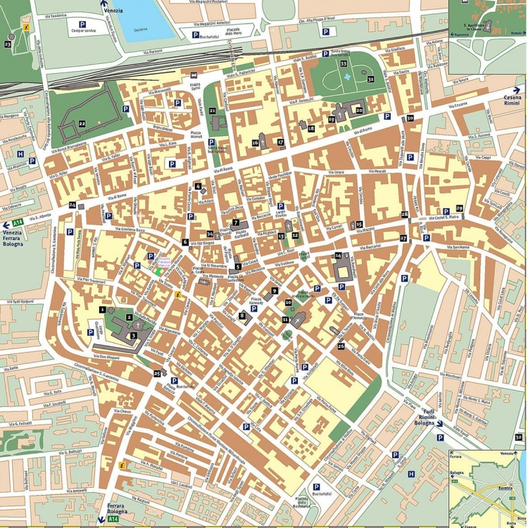 Mappa di Ravenna