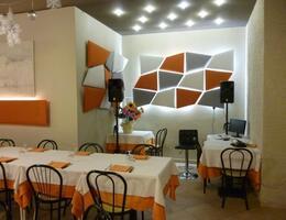 Ristorante a Rimini realizzazione fonoassorbenza con Flap e Mitesco