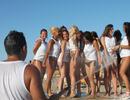 Bagno 78 Sabbia d'Oro Rimini Beach Party Il giorno di Ferragosto Miss Maglietta Bagnata