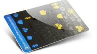 <b>Support</b>: PVC 0,76mm <b>Lamination</b>: Matt + Glossy varnish <b>Effect</b>: Silckscreen gold (glitter)