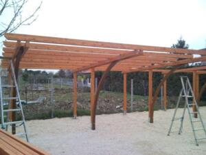 Carport in legno a rimini realizzazione box e tettoie per for Carport box auto legno lamellare prezzi