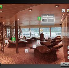 Schermata sistema di supervisione sala relax