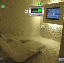 Schermata sistema di supervisione stanza del sale