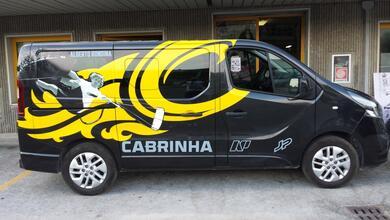 Decorazione Opel Vivaro per Alberto Rondina PRO KITEBOARDER