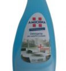 AMUCHINA DETERGENTE IGIENIZZANTE PER SUPERFICI LUCIDABILI    Detergente igienizzante a base alcolica per vetri, specchi, metalli, ecc. Da utilizzare anche tutti i giorni per le normali e piccole pulizie.