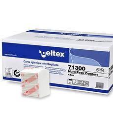 Multi Pack Comfort  Codice 71300 Cellulosa 100% Veli: 2 Dim. 11x18 cm Qt. collo: 9000 pz. 36 conf. da 250 pz. Pallet: 40 colli