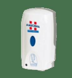 Amuchina Dispenser Fotocellula   Sistema di ricarica con vasca a rabbocco:  Vasca di rabbocco manuale da 800 ml con valvola di dosaggio per la ricarica dei detergenti, dei cosmetici e delle soluzioni alcoliche.