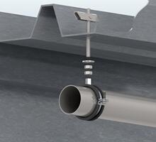 fissaggio di tubazioni sospese