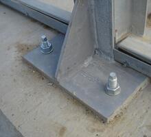 fissaggio di pali e pilastri al suolo