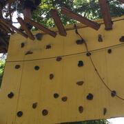 parete d'arrampicata orizzontale