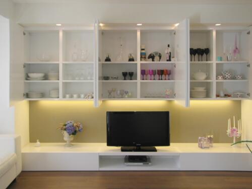 soggiorno moderno bianco lucido a Rimini