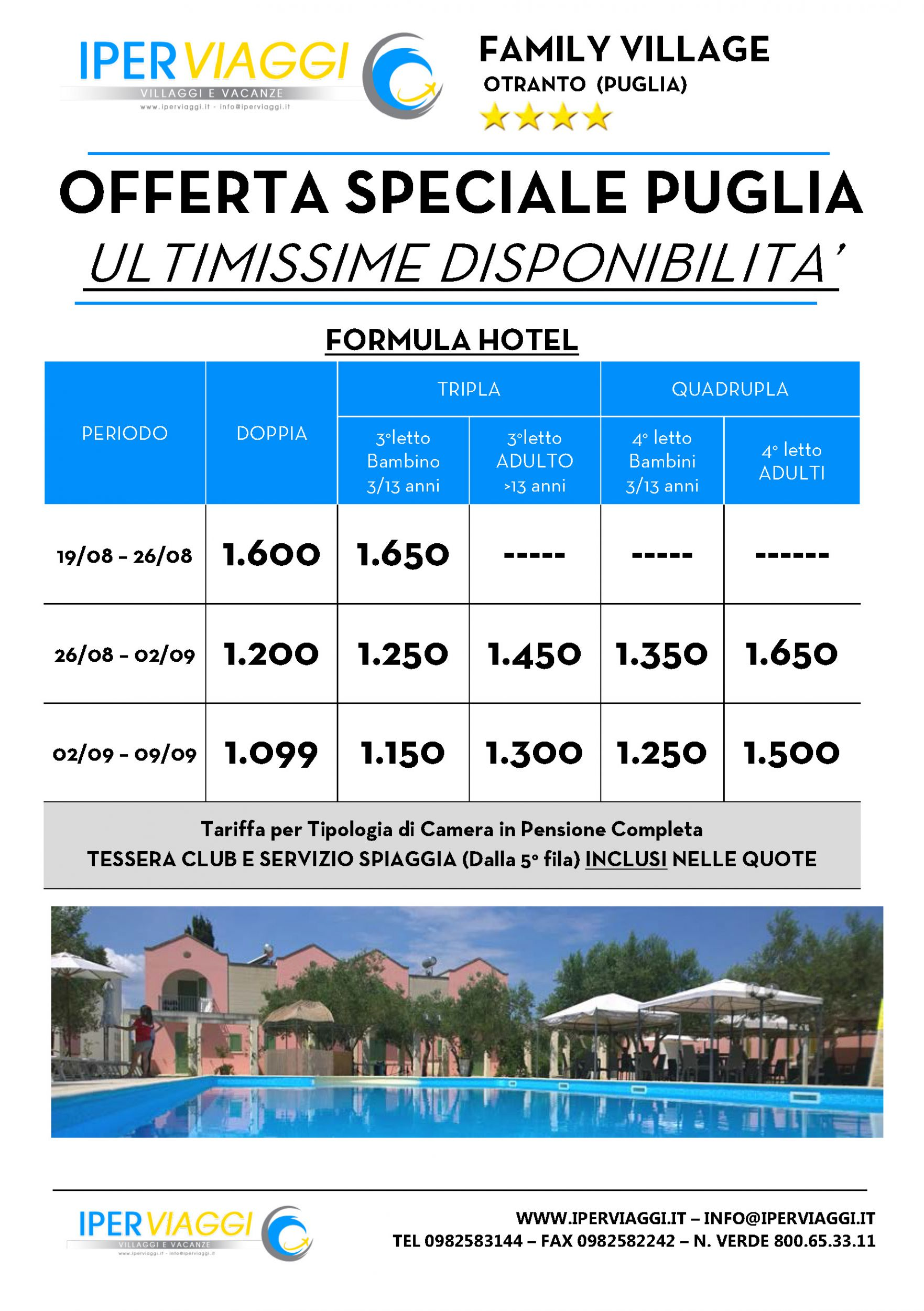 Ultime Disponibilità Last Minute Family Village