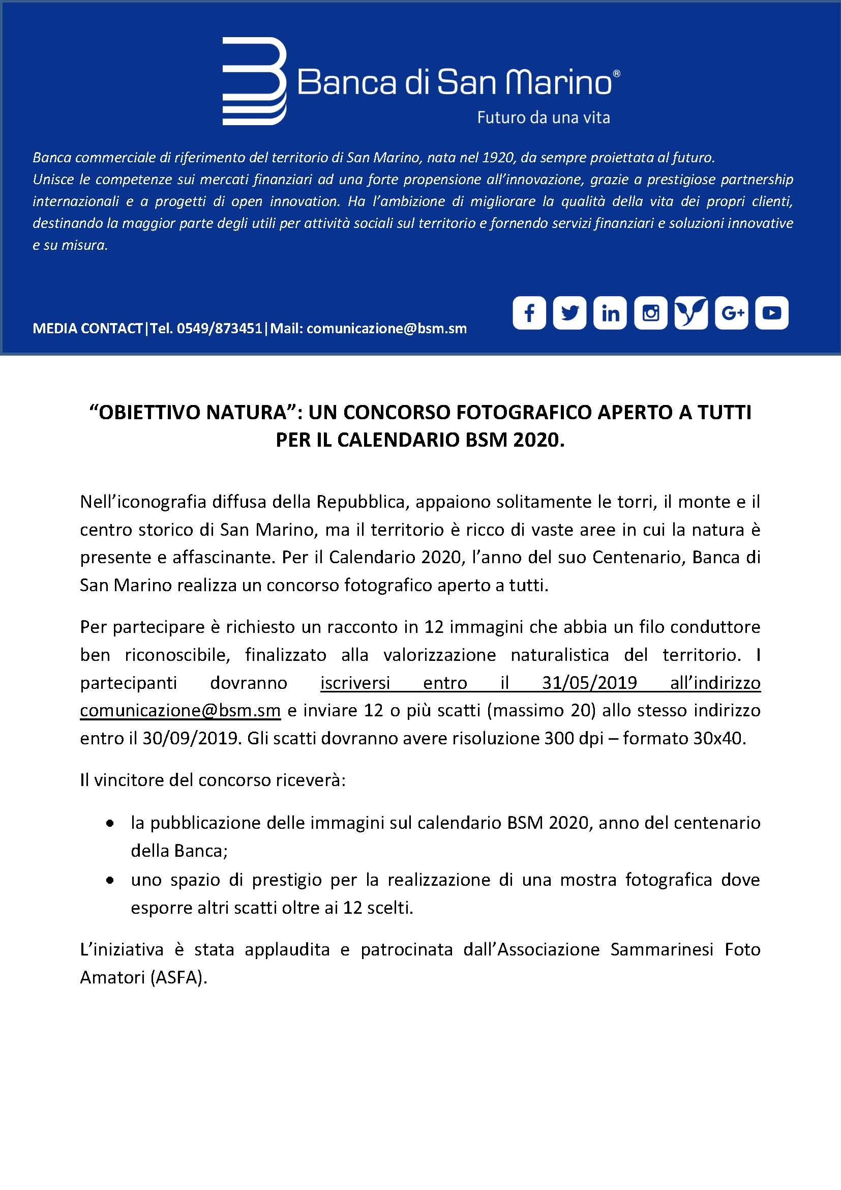 Calendario Internazionale 2020.Obiettivo Natura Un Concorso Fotografico Aperto A Tutti