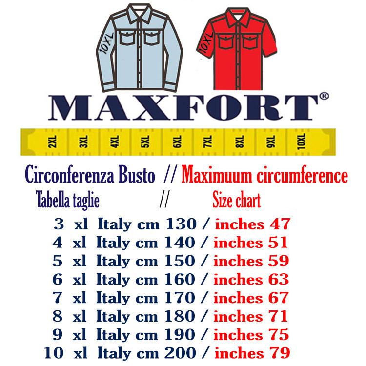 Maxfort shirt man short sleeve plus size alessano yellow  859bc32a0c2