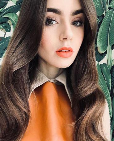 Lily Collins - Rosso Aranciato - make-up Autunno Inverno 2019-2020