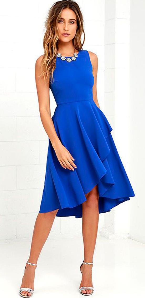 vestito blu sottotono freddo