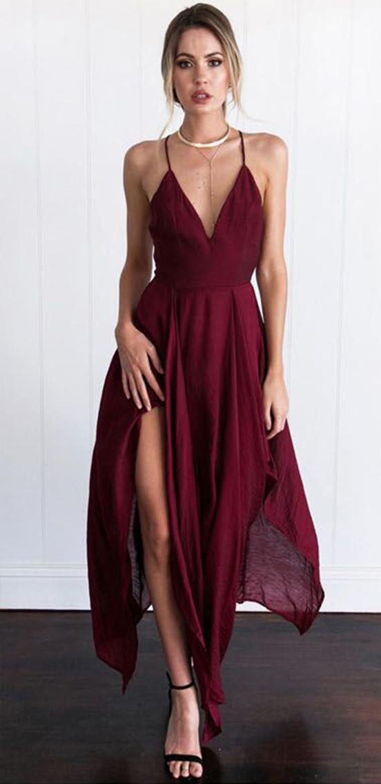vestito rosso sottotono freddo