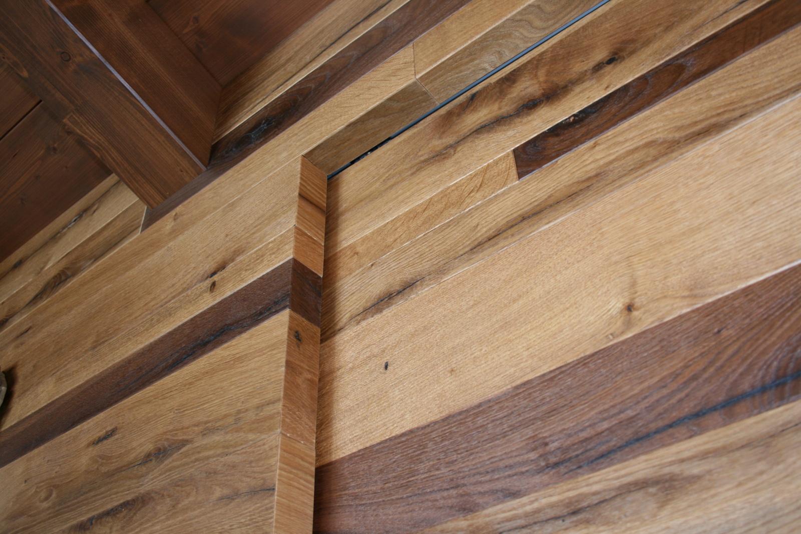 Rivestimento parete in legno dogato a santarcangelo di romagna - Parete di legno ...