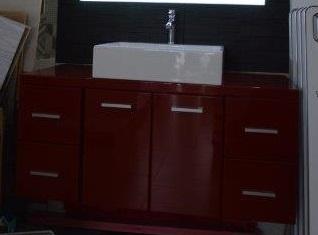 Offerta mobile bagno laccato rosso provincia di ancona