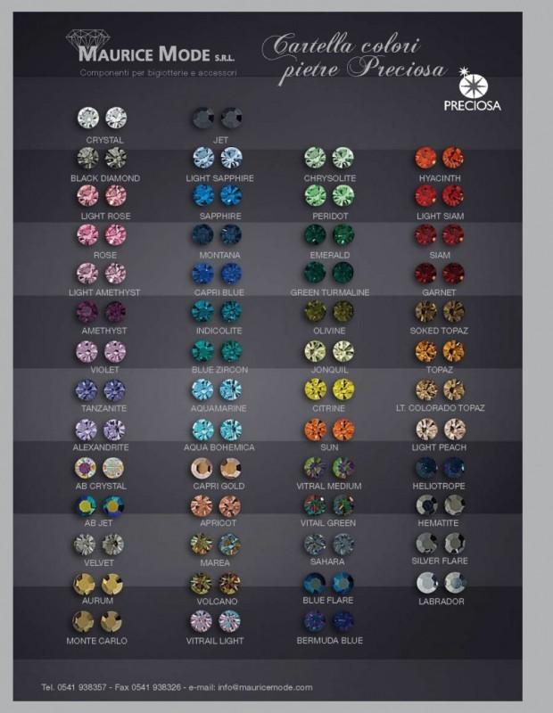 Wholesale Preciosa Stone Color Chart Maurice Mode