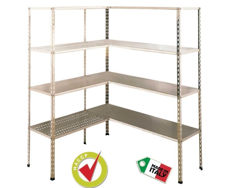 Scaffali Metallici Inox.Scaffale In Acciaio Inox Aisi 304 Con 4 Piani 110x60 Altezza H 180cm