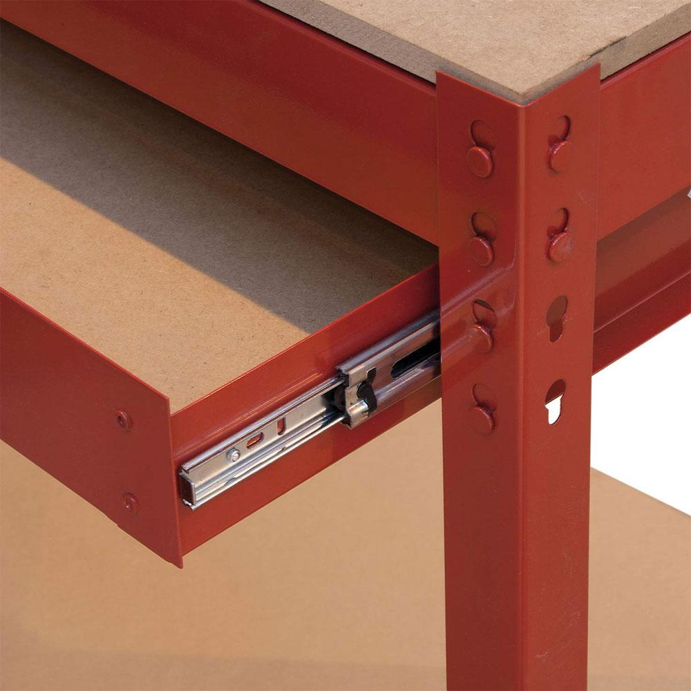 Scale Interne Con Cassetti banco da lavoro con 1 cassetto e pannello 1610167 valex