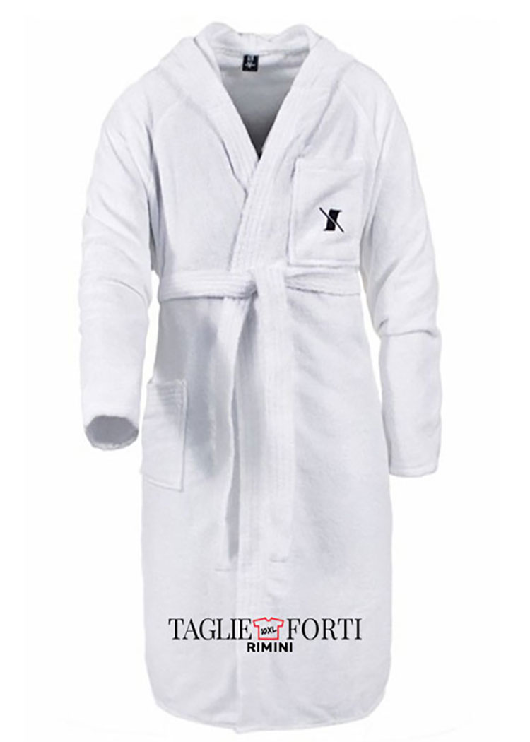 MAXFORT EXTRA LARGE MEN'S ROBE WITH BELT AND HOOD 100/%  SOFT COTTON