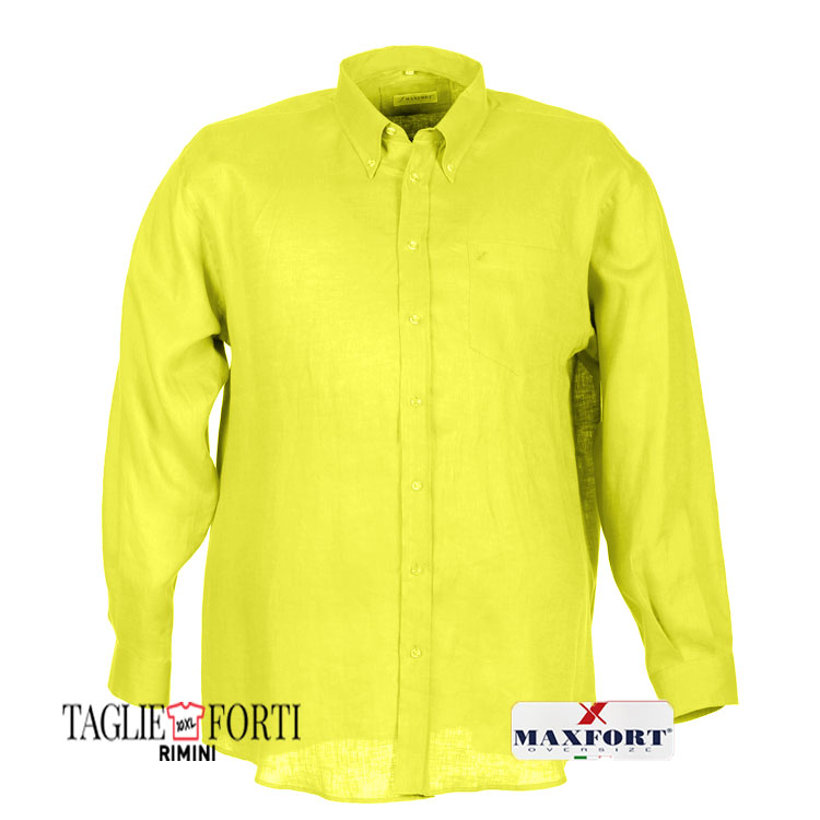 new styles d95be 80900 Maxfort camicia taglie forti uomo tommy giallo