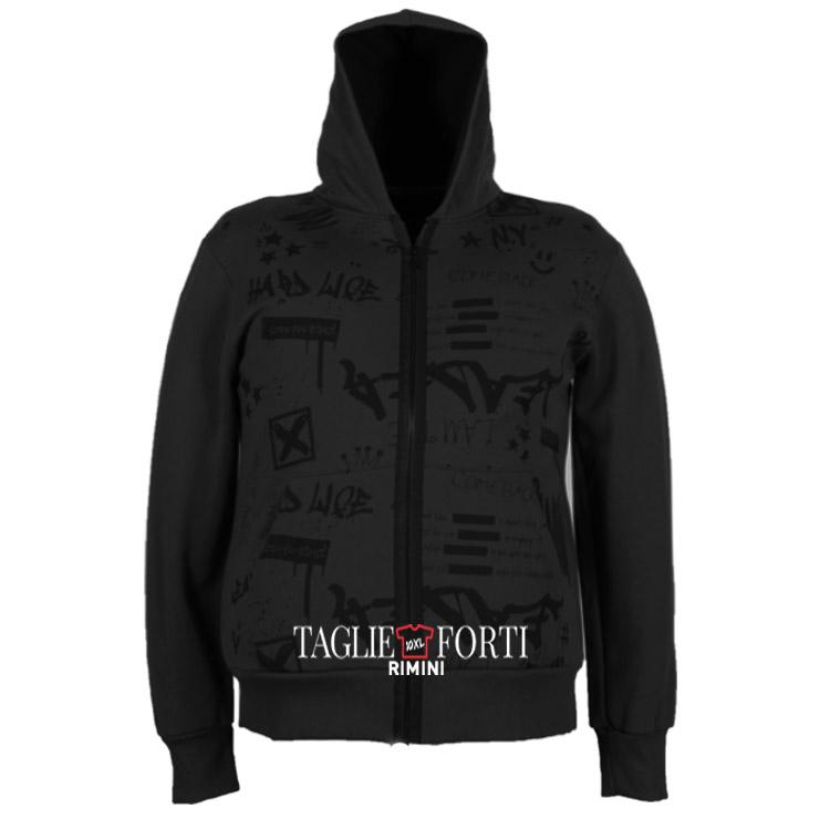 buy online b654e ce732 giacca felpa zip taglie forti uomo Maxfort 100