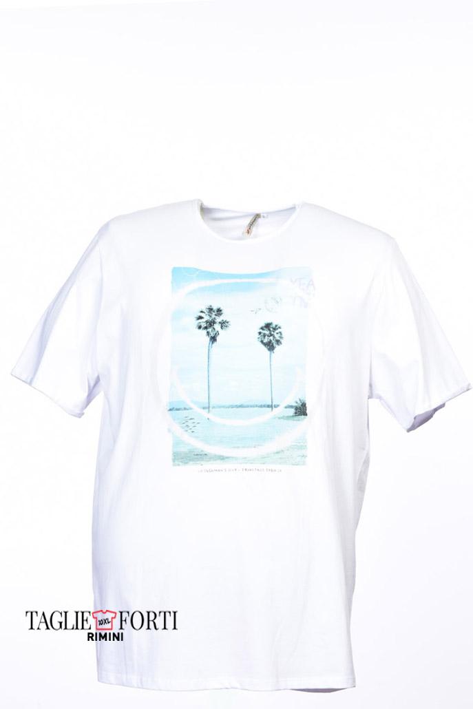 92c6021492455 Maxfort. T-shirt men s plus size 27753 white