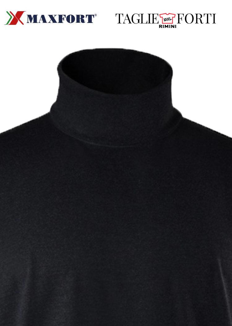 newest b7d32 a13d7 Maxfort maglia collo alto taglie forti uomo 5423 nero